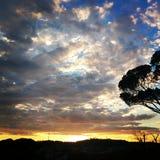 burzliwe niebo Obraz Royalty Free