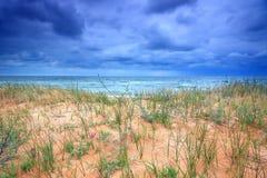Burzowa morze plaża Fotografia Royalty Free