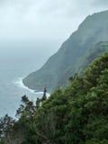Burzowa nabrzeżna sceneria Obrazy Royalty Free