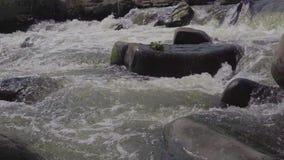 Burzowa rzeka w India zdjęcie wideo