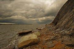 Burzowa zmrok pogoda nad Hanklit Fotografia Royalty Free