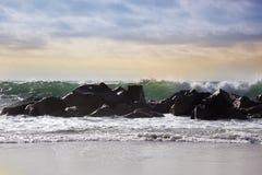 burzowe fale oceanu ocean fala w Pacyficznym oceanie Fotografia Royalty Free
