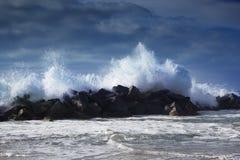 burzowe fale oceanu ocean fala w Pacyficznym oceanie Fotografia Stock