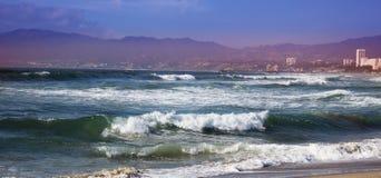 burzowe fale oceanu Piękny Seascape Fotografia Royalty Free