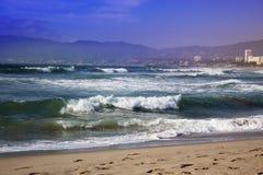 burzowe fale oceanu Piękny Seascape Obraz Royalty Free