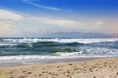 burzowe fale oceanu Piękny Seascape Zdjęcie Stock