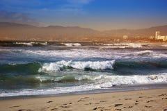 burzowe fale oceanu Piękny Seascape Zdjęcia Royalty Free
