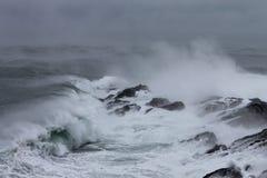 Burzowi morza zdjęcie royalty free