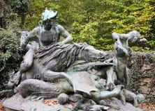 Burzowi przypływy Niemcy - Drezdeńscy - obraz royalty free