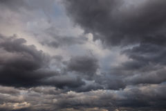 burzowy ciemny niebo Zdjęcia Royalty Free