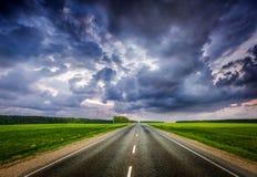 burzowy drogowy niebo fotografia stock