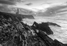 Burzowy dzień i latarnia morska Zdjęcie Stock