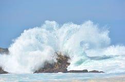 Burzowy dziki morze Zdjęcia Royalty Free