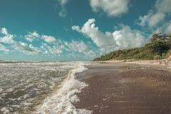 Burzowy kipiel krajobraz zdjęcie royalty free