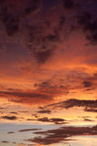 burzowy kolorowy niebo Obrazy Royalty Free