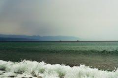 Burzowy krajobraz Torremolinos, Malaga, Hiszpania Zdjęcia Stock