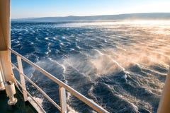 Burzowy morze z silnym wiatrem Zdjęcie Royalty Free