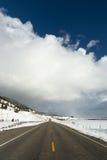 Burzowy niebo grzmotu chmur nieba Duży kraj Montana Pogodowy Approximate Zdjęcie Stock