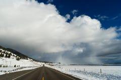 Burzowy niebo grzmotu chmur nieba Duży kraj Montana Pogodowy Approximate Zdjęcia Stock