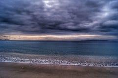 Burzowy niebo nad morzem śródziemnomorskim zdjęcie royalty free