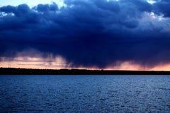 Burzowy niebo po deszczu Obraz Stock
