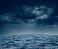 Burzowy ocean Zdjęcia Royalty Free