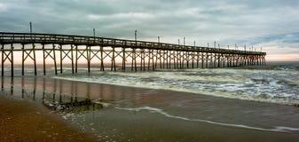 Burzowy przy plażą Zdjęcia Royalty Free