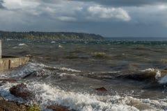 Burzowy Puget Sound 6 Zdjęcia Royalty Free