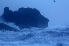 burzowy szorstki morze Zdjęcia Royalty Free