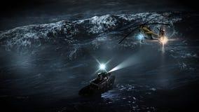 Burzy Morza Ratunek ilustracja wektor