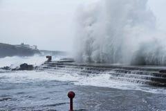 Burzy morze Zdjęcia Royalty Free