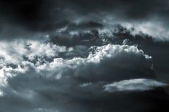 Burzy niebo Fotografia Stock