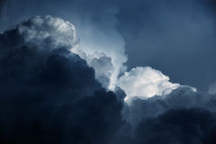 Burzy niebo z chmurami Obraz Stock