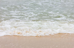 Burzy plaży fala Obraz Royalty Free