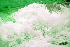 burzy zielona fala Zdjęcie Stock