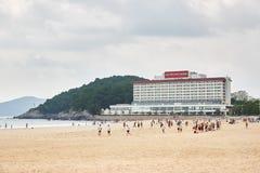 Busán, Corea - 19 de septiembre de 2015: El hotel de Westin Chosun Fotografía de archivo libre de regalías