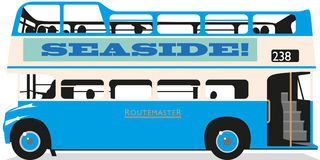Bus à couvercle serti Images stock