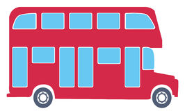 Bus. View of double decker bus, public transport Stock Photo