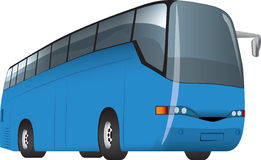 Bus. The blue bus for cruises and excursions Stock Image