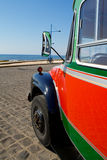 Bus. Colorful bus on the seaside Royalty Free Stock Photo