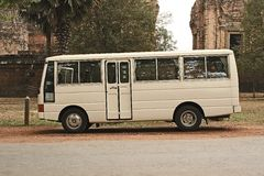 Bus. A small bus use to transport public and tourists Royalty Free Stock Images