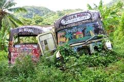 Bus aan nergens Stock Foto's