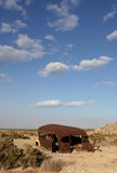 Bus abandonné à la mer de Salton Photo libre de droits