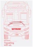 Bus Addict. Vector art Illustration Royalty Free Stock Photography