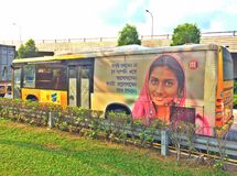 Bus advertisement Stock Images