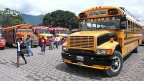 Bus, Antigua, Guatemala Stock Photo