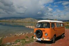 Bus arancione Immagini Stock