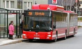 Bus att bus stop Royalty Free Stock Photo
