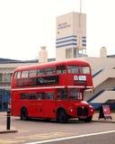 Bus auf der Zwangsarbeit, Portsmouth Lizenzfreies Stockfoto