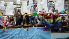 Bus Baltic pride gay stock video